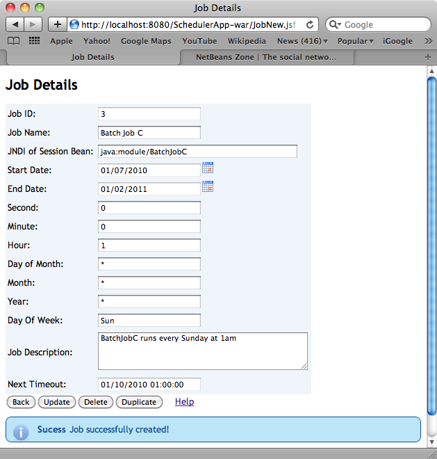 How to Create a Scheduler Module in a Java EE 6 Application
