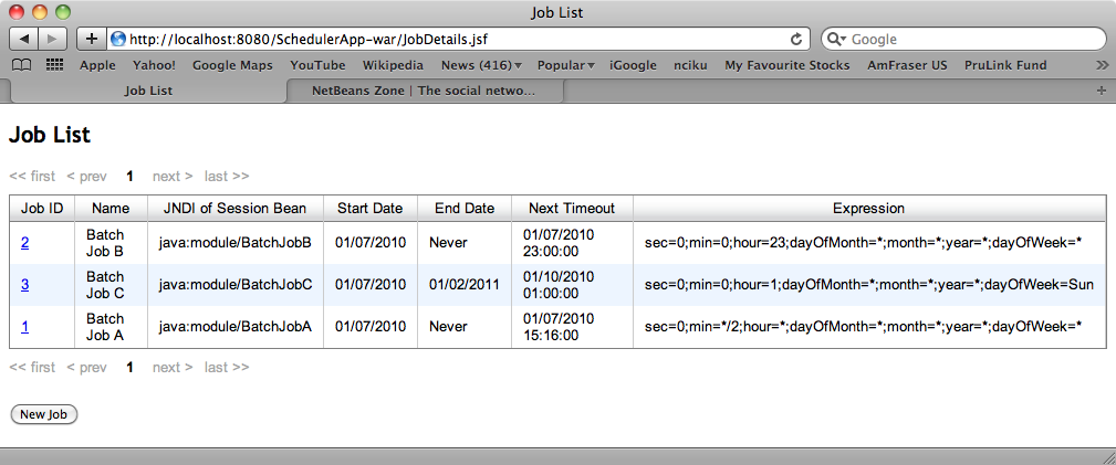 How to Create a Scheduler Module in a Java EE 6 Application with