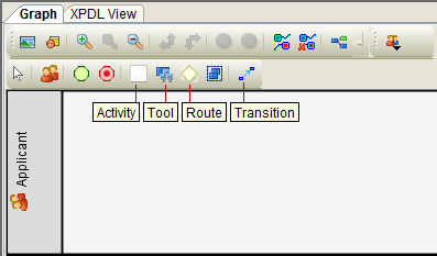 Activity, Tool, Route and Transition in Workflow Designer Toolbar