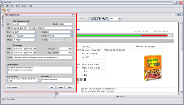 Manufacturing Business Intelligence on the NetBeans Platform