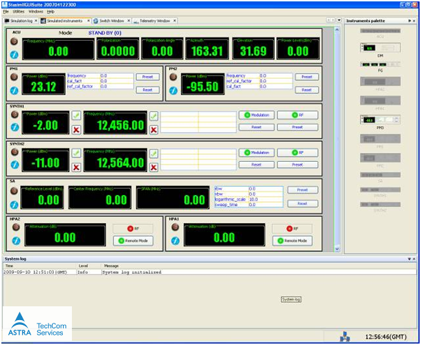 Figure 1 - Station simulator GUI instruments
