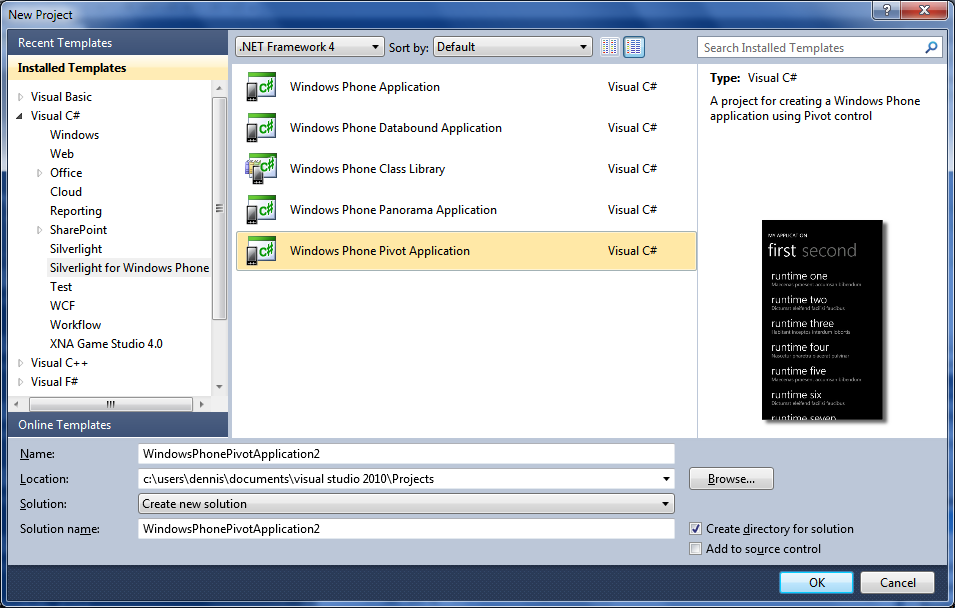 Pivot Applications for Windows Phone 7 - DZone Mobile