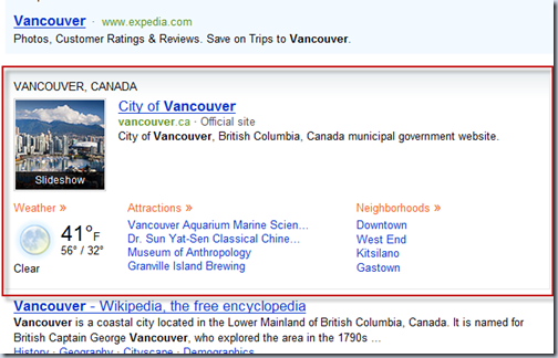 Bing - Vancouver