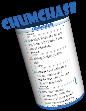 Partial Screen Shot of ChumChase
