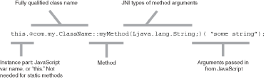 Figure 2 The structure of JSNI call syntax