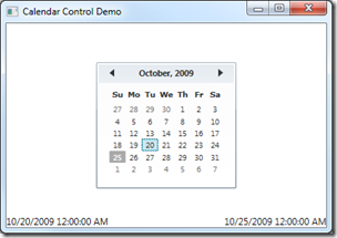 Introducing the WPF 4 Calendar Control - DZone