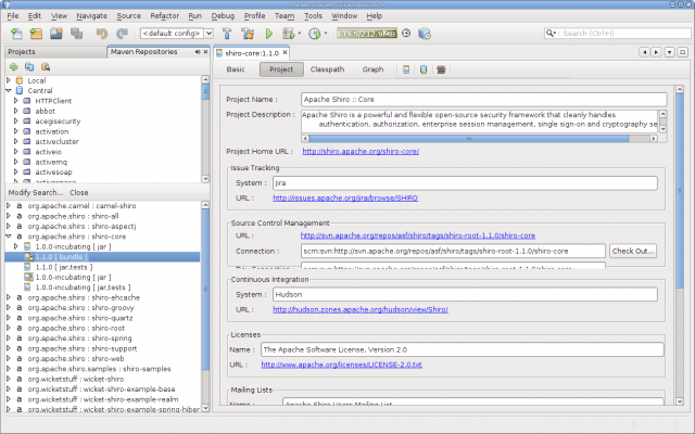 NetBeans Maven - Repository Browser
