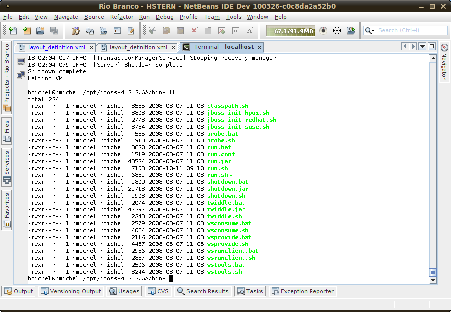 New in NetBeans IDE 6 9: Terminal & Remote Terminal