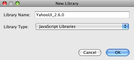 New Library dialog